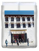 Courtyard Entry To Potala Palace In Lhasa-tibet Duvet Cover