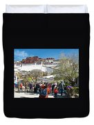 Courtyard Of Potala Palace In Lhasa-tibet Duvet Cover