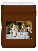 Courtyard Of Spruce Tree House On Chapin Mesa In Mesa Verde National Park-colorado  Duvet Cover