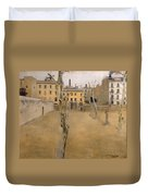 Courtyard Of The Old Barcelona Prison. Courtyard Of The Lambs Duvet Cover