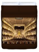 Covent Garden Theatre, From Microcosm Duvet Cover