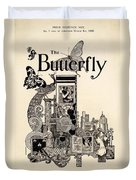 Cover Of The Butterfly Magazine Duvet Cover