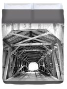 Covered Bridge Architecture Duvet Cover