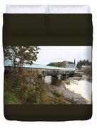 Covered Bridge  Bath Duvet Cover