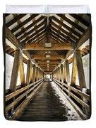 Covered Bridge Littleton New Hampshire Duvet Cover