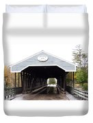 Covered Bridge North Conway Sacco River Duvet Cover