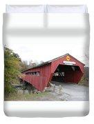Covered Bridge Taftsville Duvet Cover