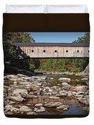 Covered Bridge Vermont Duvet Cover by Edward Fielding