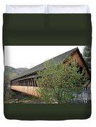 Covered Bridge - Woodstock - Vermont Duvet Cover