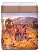 Covered Wagon Duvet Cover