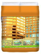 Covington Kentucky View From The Ferry Duvet Cover