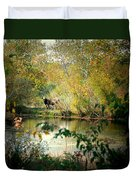 Cow By The Pond Duvet Cover