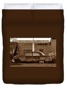 Cow Canyon Trading Post 1949 Duvet Cover