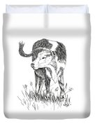 Cow In Pen And Ink Duvet Cover