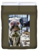 Cow Kiss Me Photo Art Duvet Cover