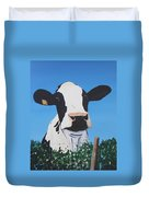 Cow On A Ditch Duvet Cover