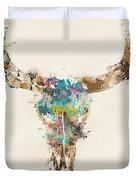 Cow Skull Duvet Cover
