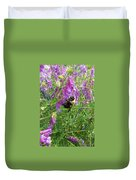 Cow Vetch Wildflowers And Bumble Bee Duvet Cover