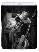 Cowboy Acoustic Guitar Duvet Cover