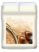 Cowboy Boots And Lasso Duvet Cover