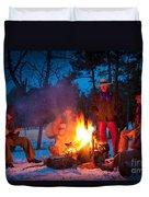 Cowboy Campfire Duvet Cover