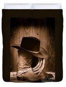 Cowboy Hat And Boots Duvet Cover