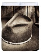 Cowboy Hat On Floor Duvet Cover by Olivier Le Queinec