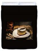 Cowboy Hat On Lasso Duvet Cover