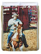 Cowboy On Paint Duvet Cover