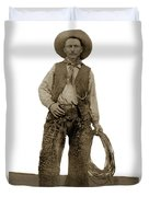 Cowboy With Woolies Cowboy Hat 1900 Duvet Cover