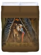 Cowgirl And Cowboy Duvet Cover