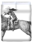 Cowgirl Full Out Duvet Cover