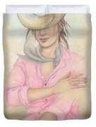 Cowgirl Duvet Cover by Judith Grzimek