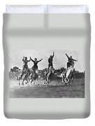 Cowgirls At The Rodeo Duvet Cover