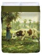 Cows At Pasture  Duvet Cover