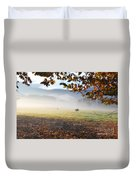 Cows In The Fog Duvet Cover