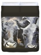 Cows In Waiting Duvet Cover