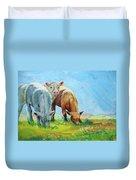 Cows Landscape Duvet Cover
