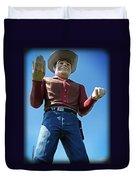 Cowtown Cowboy Duvet Cover