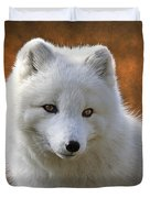 Coy Arctic Fox Duvet Cover