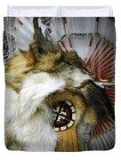 Coyote Headdress 1 Duvet Cover