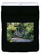 Cozy Southern Garden Bench Duvet Cover by Carol Groenen