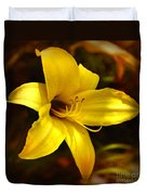 Cozy Yellow Daylily Duvet Cover