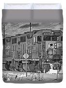Cp Rail Train Bwtr9099-12 Duvet Cover