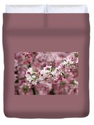 Crab Apple Blossom Duvet Cover