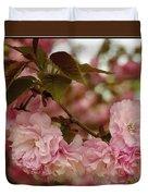 Crab Apple Blossoms Duvet Cover