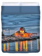 Crab Shack Seafood Restaurant Duvet Cover