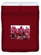 Crabapple Tree Blossoms Duvet Cover