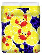 Crabs On Lemon Duvet Cover