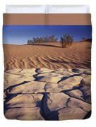Cracked Mud - Sand Ripples Duvet Cover